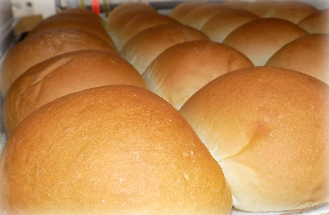 A photo of many round bread