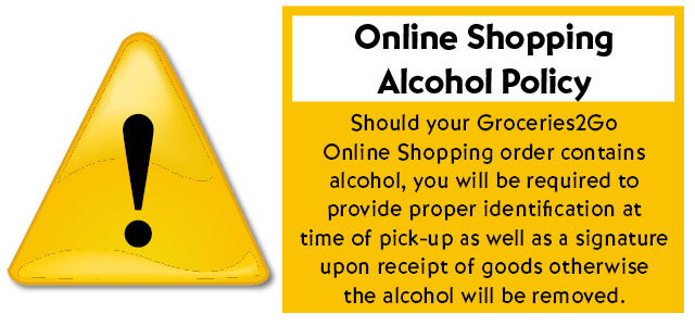 Must be 21 to pick up online shopping orders containing alcohol