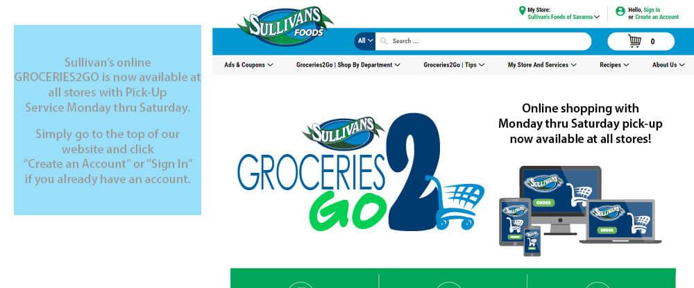 Sullivan's Foods Online Shopping Available Monday thru Saturday
