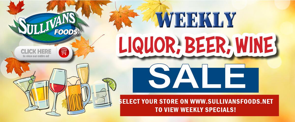 Sullivan's Foods Liquor Specials
